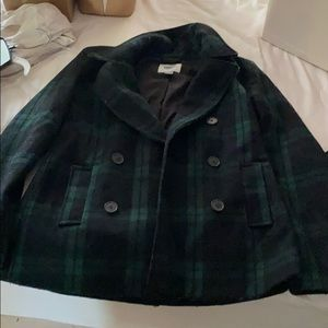 Black and green coat